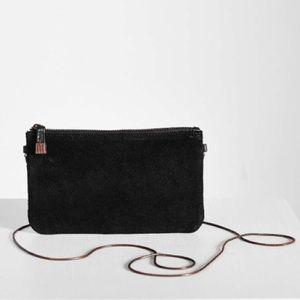 UO Silence + Noise Black Leather Wristlet Wallet